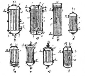 Рис. 1.2 Типы кожухотрыбных теплообменников
