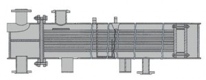 Подогреватель пароводяной кожухотрубный ПП2-9-7-4 с плоским днищем