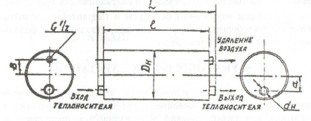 Схема проточного воздухосборника А1И