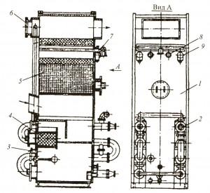 Рис. 85. Экономайзерный агрегат типа АЕ